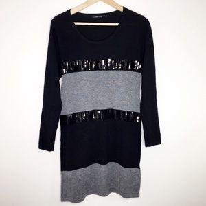 Lauren Vidal sweater dress with sequin size medium